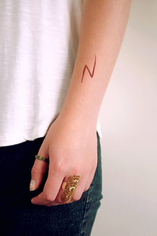lightning bolt scar temporary tattoo