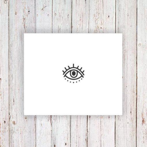 Evil eye temporary tattoo