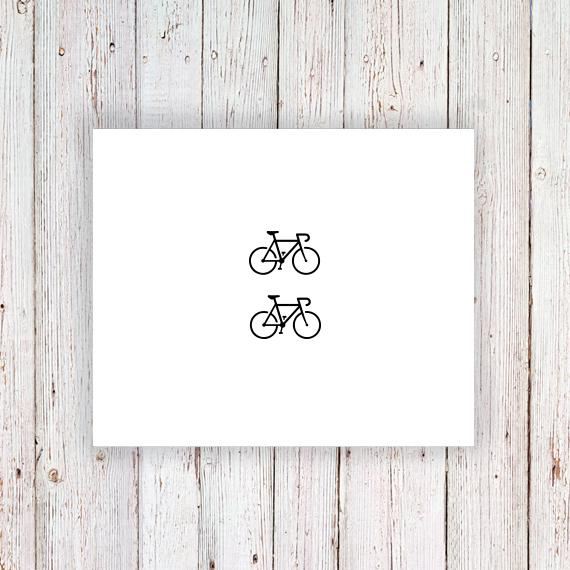 Small Bike Temporary Tattoo (set Of Two
