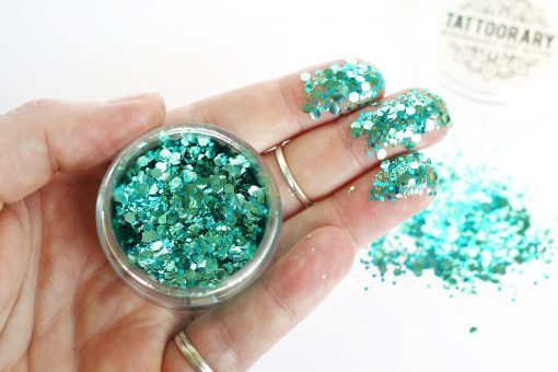 Biodegradable chunky face glitter in 'Mermaid'