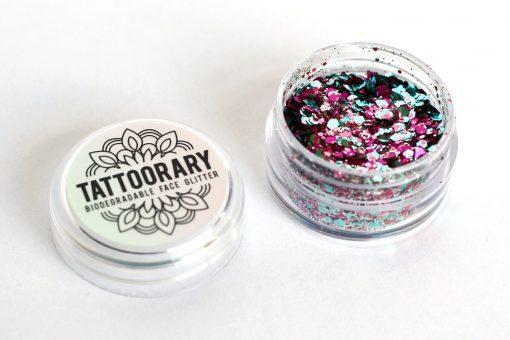 Biodegradable chunky face glitter in 'Unicorn'