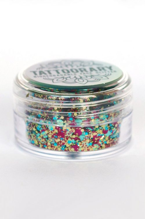 Biodegradable chunky face glitter in 'Disco'