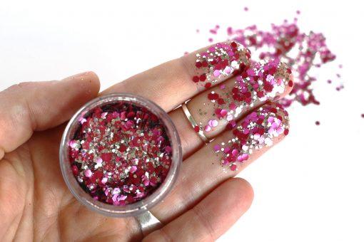 Biodegradable chunky face glitter in 'Lollipop'