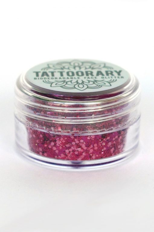 Biodegradable chunky face glitter in 'Pink Dream'