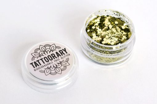 Biodegradable chunky face glitter in 'Sun Kissed' (Gold)