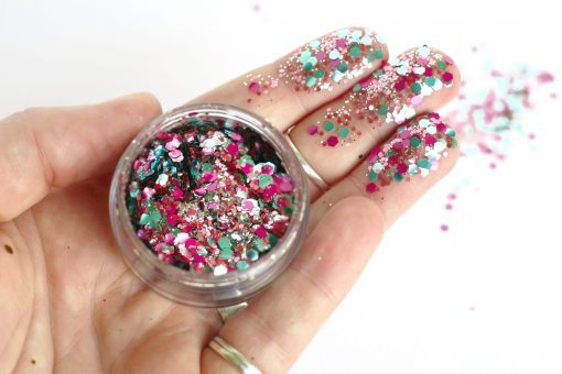 Biodegradable chunky face glitter in 'Unicorn'