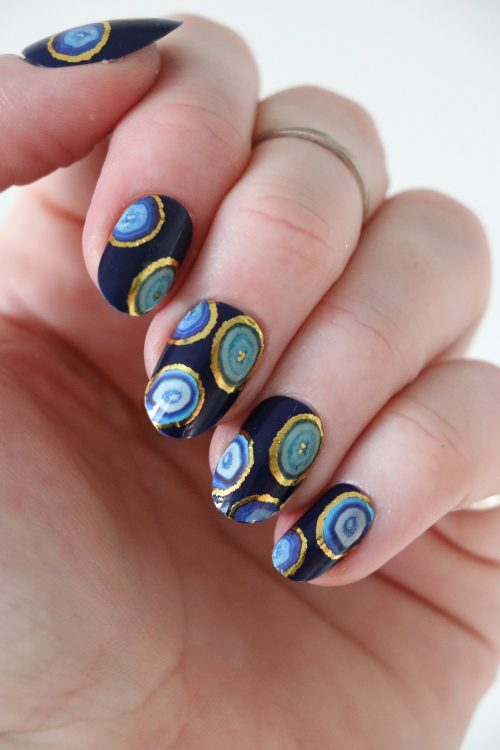 Agate slice nail tattoos / nail decals