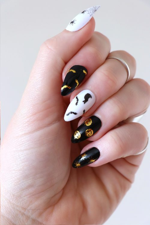 Halloween nail tattoos / nail decals