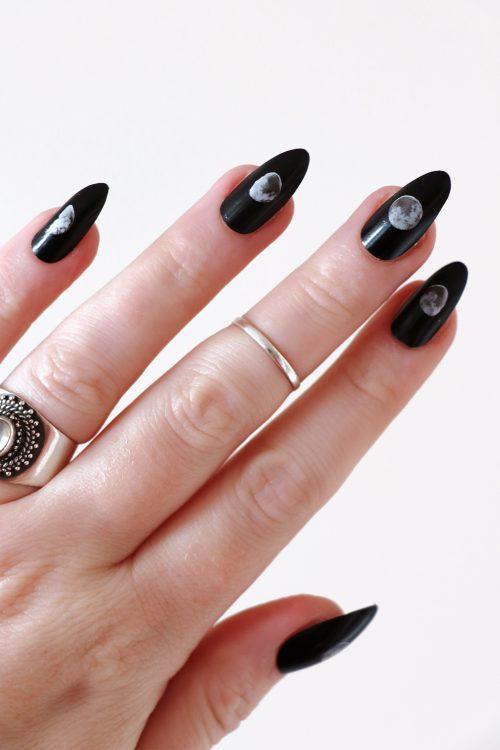 Moon phase nail tattoos / nail decals