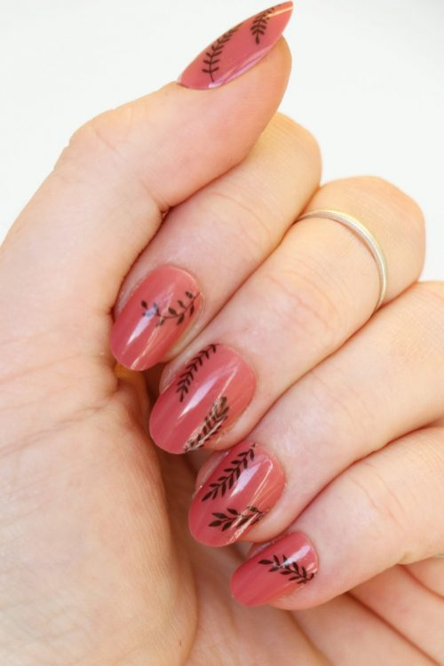 leaves nail decals nail stickers