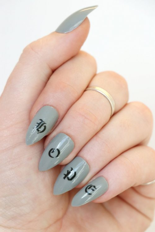 old english alphabet nail decals letter nail stickers 4