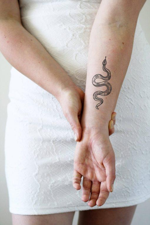 bohemian snake temporary tattoo