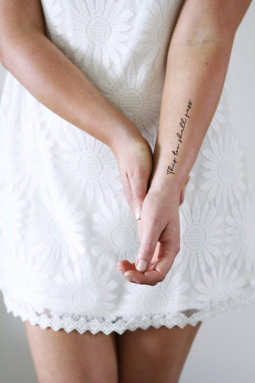 This too shall pass temporary tattoo set of two
