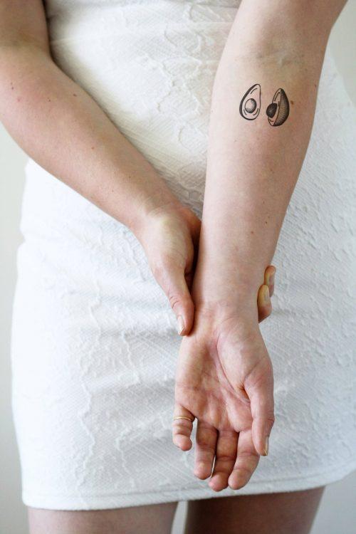 Avocado temporary tattoo