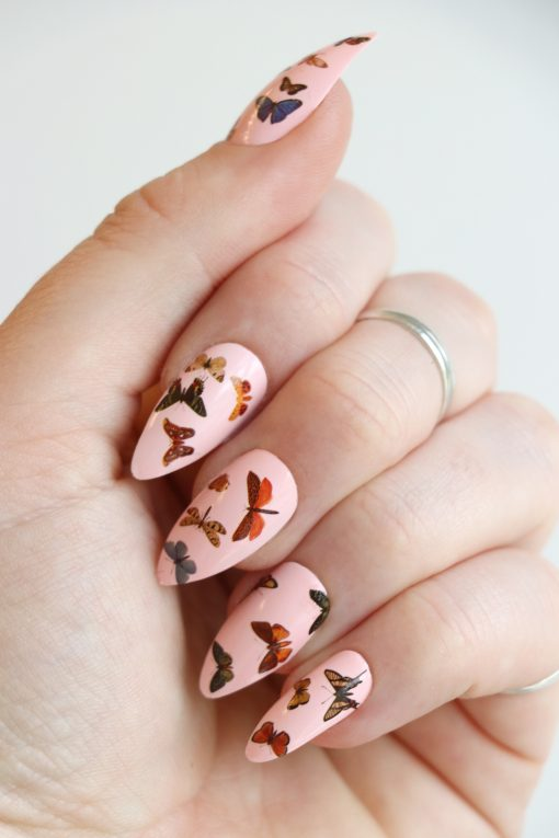 butterfly nail decals / buttefly nail stickers