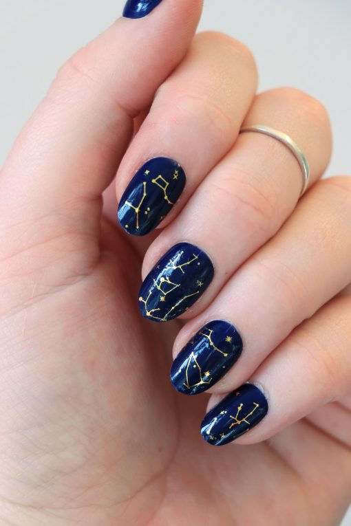 constelation nail decals / star nail stickers