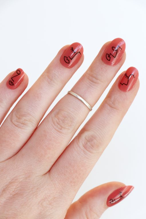 faces nail decals