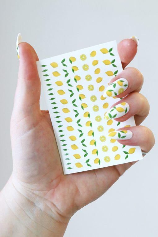 lemon nail decals / nail stickers
