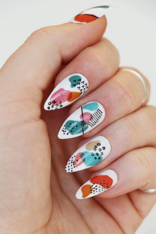 modern art nail decals / nail stickers