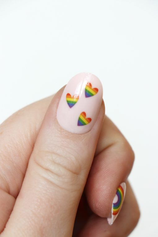 rainbow nail decals / nail stickers / pride nail decals