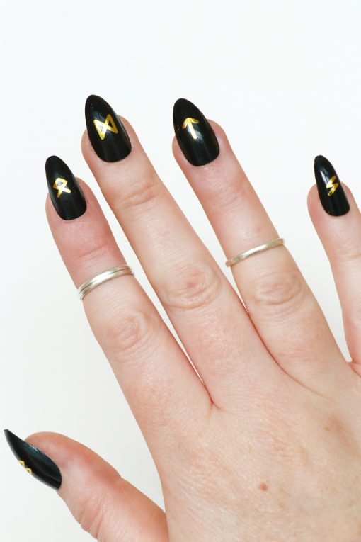 runes nail decals / witch nails / nail stickers