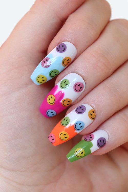 smiley nail decals nail art