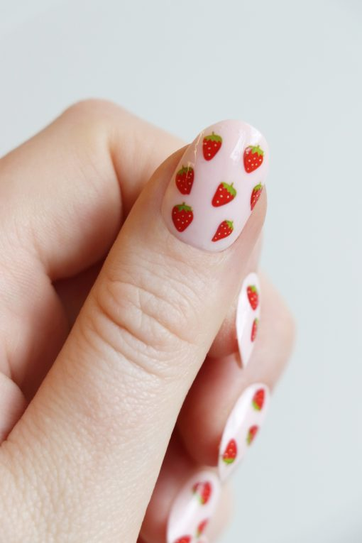Strawberry nail decals / strawberry nail stickers