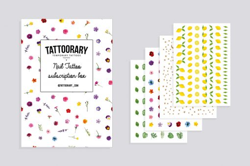 monthly nail decal subscription box - monthly nail tattoo subscription box