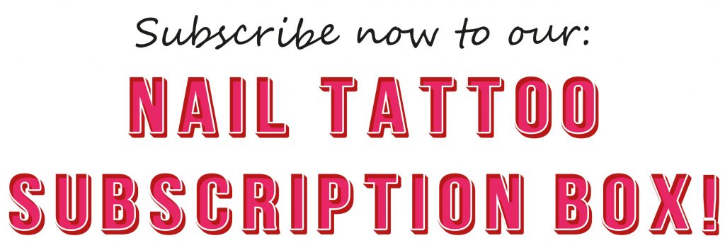 nail decal subscription box - monthly nail tattoo subscription box