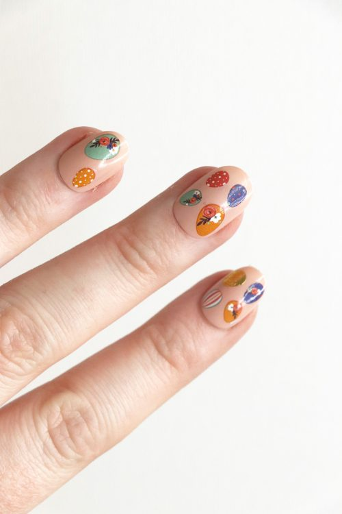 Easter Egg Nail Decals / Easter eggs nail tattoos / Easter nail art / eggs nail decals / Easter nail decals / Easter egg nail art