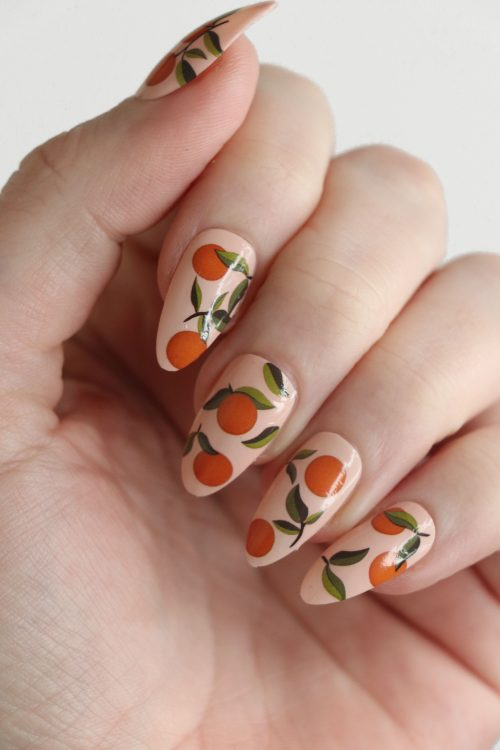 Oranges nail tattoos / orange nail decals / nail art / oranges nails / fruit nail decals / oranges nail decals / fruit nails / N68