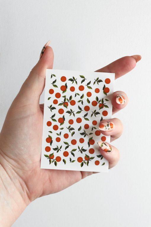 Oranges nail tattoos / orange nail decals / nail art / oranges nails / fruit nail decals / oranges nail decals / fruit nails / N68