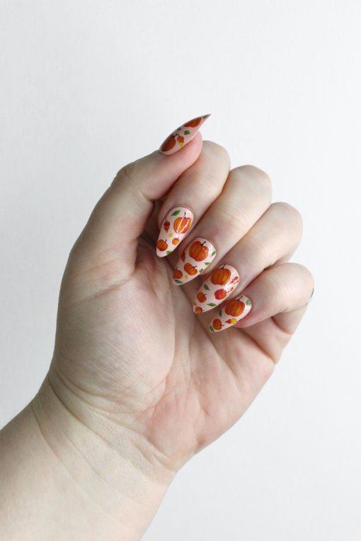 Pumpkin nail tattoos / Pumpkin nail decals / nail art / pumpkin nails / fall nail decals / Autumn nail decals / fall nails / N52