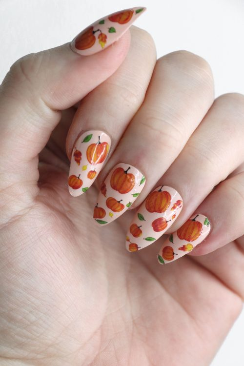 Pumpkin nail tattoos / Pumpkin nail decals / nail art / pumpkin nails / fall nail decals / Autumn nail decals / fall nails / N52